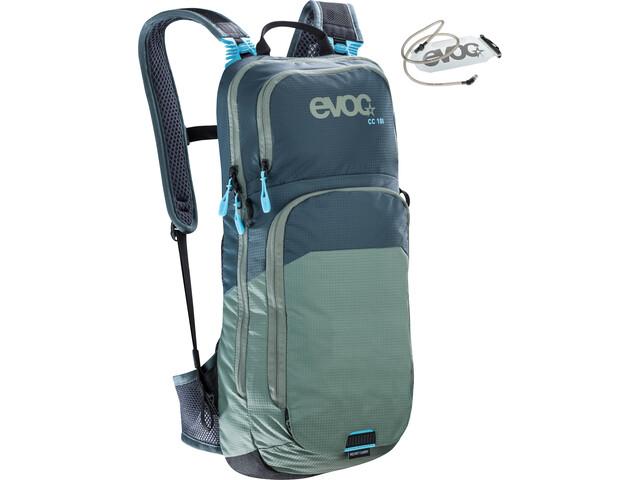 EVOC CC Lite Performance Reppu 10l + Rakko 2l, slate-olive